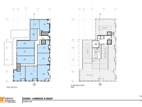 Brady Street Apartment Plan Floors Two and Three.
