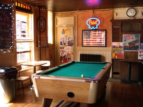 Back room with pool table.