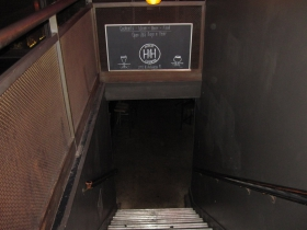 Stairs to the bar