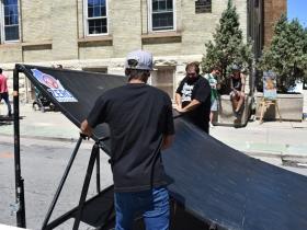 Preparing the ramp