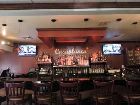 The bar at Casablanca