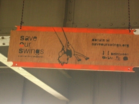 Save our Swings. Photo by Michael Horne.