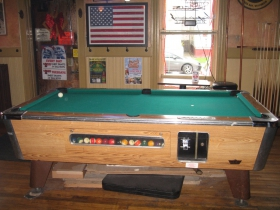 Pool table at Regano's Roman Coin