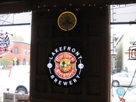 Lakefront Brewery sign