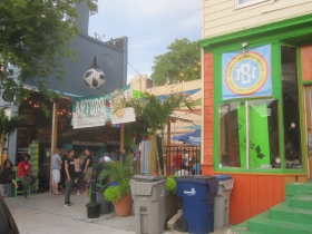 The Nomad World Pub's patio
