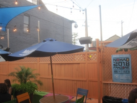 The Nomad World Pub's patio