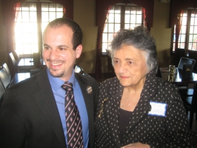 Jonathan Brostoff and Shirley Abrahamson