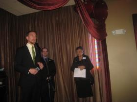 Chris Larson, Jonathan Brostoff and Shirley Abrahamson