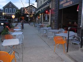 Streetside seating