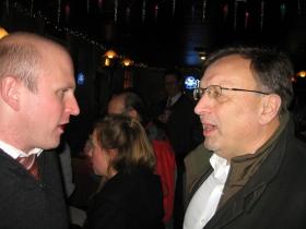 Ald. Nik Kovac and Bob Monnat