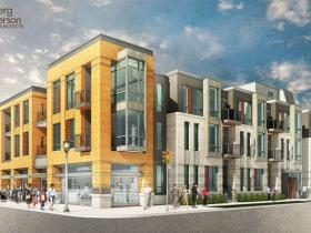 Brady Street Apartment Building Rendering SE View