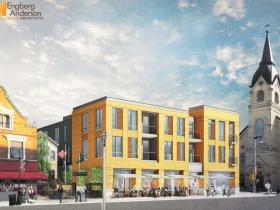 Brady Street Apartment Building Rendering SW View