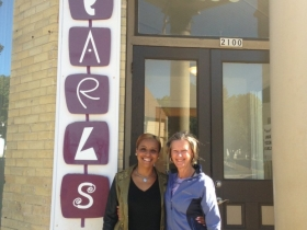 Glenna and Ginny outside of PEARLS for Teen Girls.