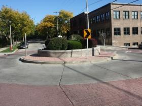 Roundabout on Reservoir Avenue