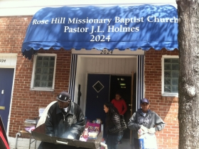 The outside of Rose Hill Missionary Baptist Church. Photo by Tony Atkins.