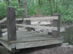 A collapsed bridge