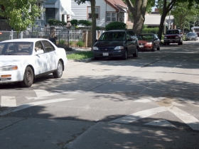 Speed Hump in front of Ald. Donovan's home.