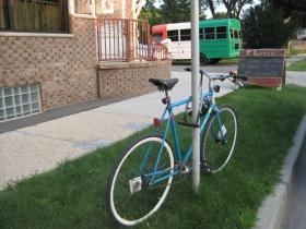 No biking parking to be found.