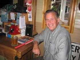Ald. Bob Donovan enjoys a beer.