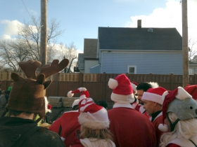 Santas at Kochanski's Concertina Beer Hall.