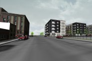 W. Washington Ave. NLE apartment building rendering