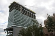 Construction of the Potawatomi Casino Hotel.