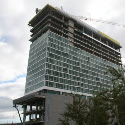 Construction of the Potawatomi Casino Hotel.