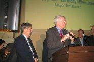 Ald. Michael Murphy (l), Mayor Tom Barrett (r)