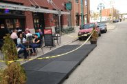 Milwaukee\'s latest parklet.