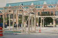 Moire Pavilion Construction