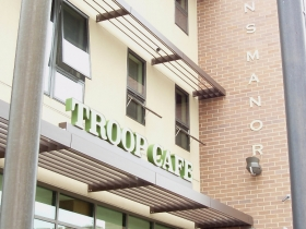 Troop Café is on the first floor of Veterans Manor, at 3430 W. Wisconsin Ave.