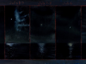 David Niec: July Moon Cycle Over Lake Michigan (panel 2)