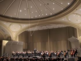Helen Bader Concert Hall in the Helene Zelazo Center for Performing Arts.