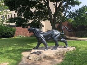 UWM Panther Statue