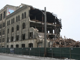 Gallun Tannery demolition from N. Water St.