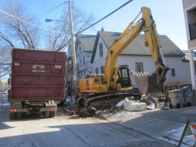 Demolition of 1159 E. Kane Pl.