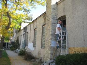 Renovation work at 902-914 E. Hamilton St.