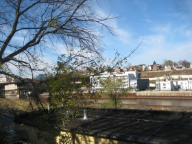 View over Brocach's roof.