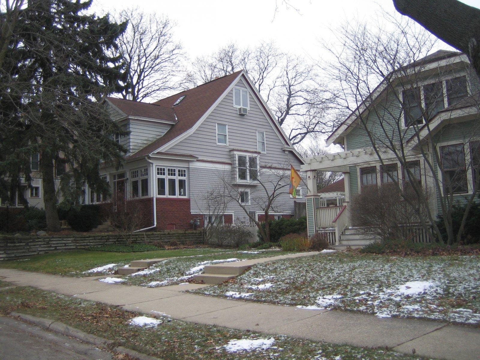 John Gurda\'s house on the left.