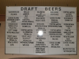 The beer selection at Romans' Pub. Photo by Audrey Jean Posten.