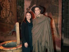 Samuel James Dewese and Gigi Wagener, Costume Design Intern from Mount Mary University.