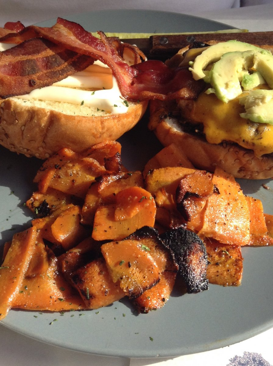 Blackened Chicken Bacon Avocado Sandwich with melted cheddar
