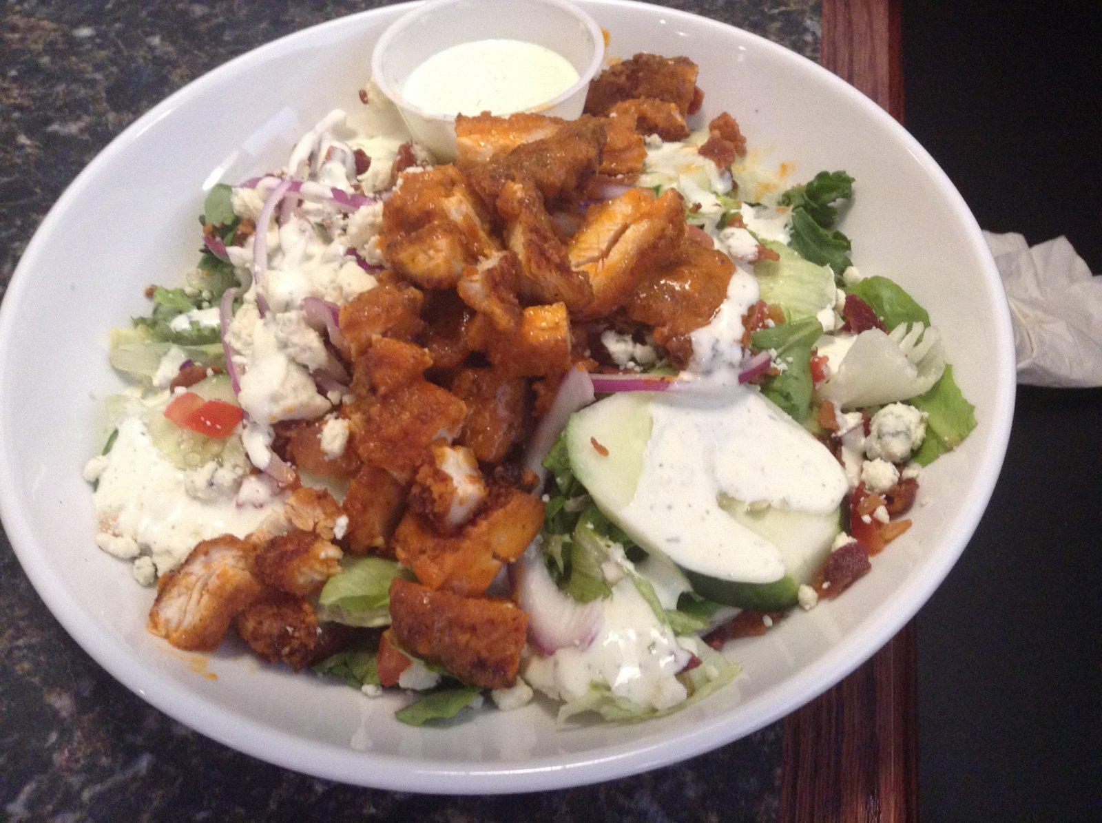 On the Menu: Crispy Buffalo Chicken Salad