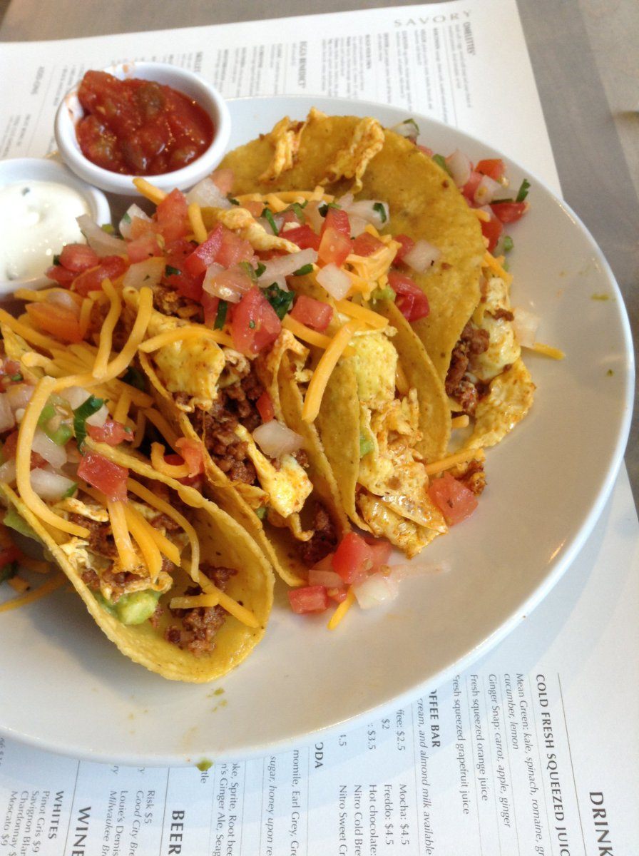 Scramble Egg Tacos
