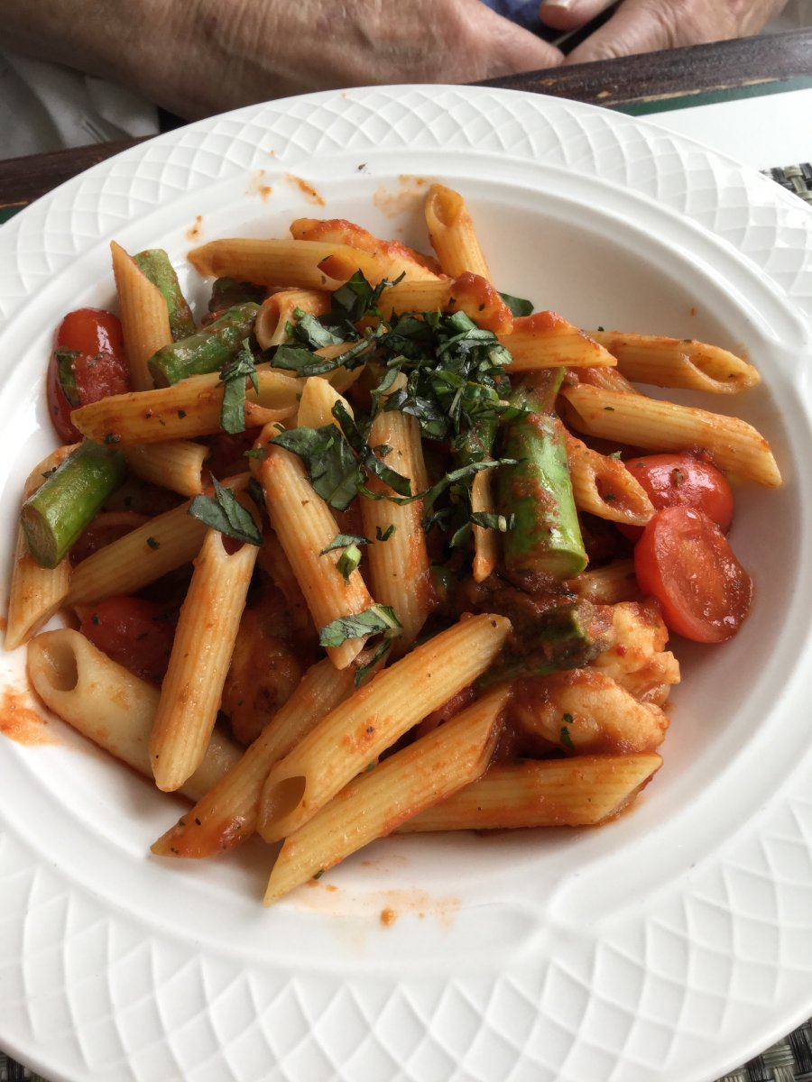 Penne with Sauteed Shrimp