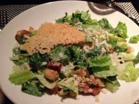 Devon: Caesar salad with asagio crisp.