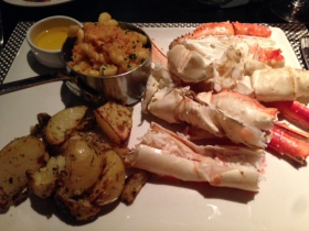 Devon: King crab roasted potatoes and lobster macaroni and cheese.