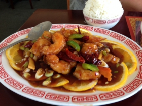 Fortune's Szechuan Shrimp.