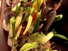 Crudites / seasonal vegetables / bagna cauda spread spread