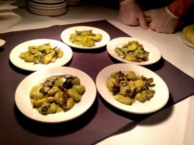 Green Curry Mushrooms, potato dumpling